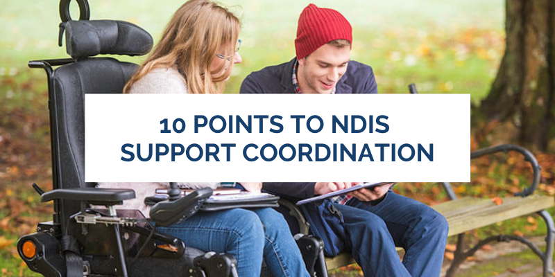 10 points to ndis support coordination